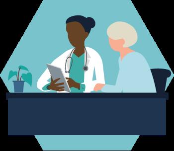 Patient admission illustration
