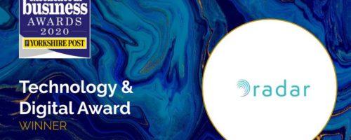 Radar Healthcare win The Yorkshire Post Business Technology & Digital Award